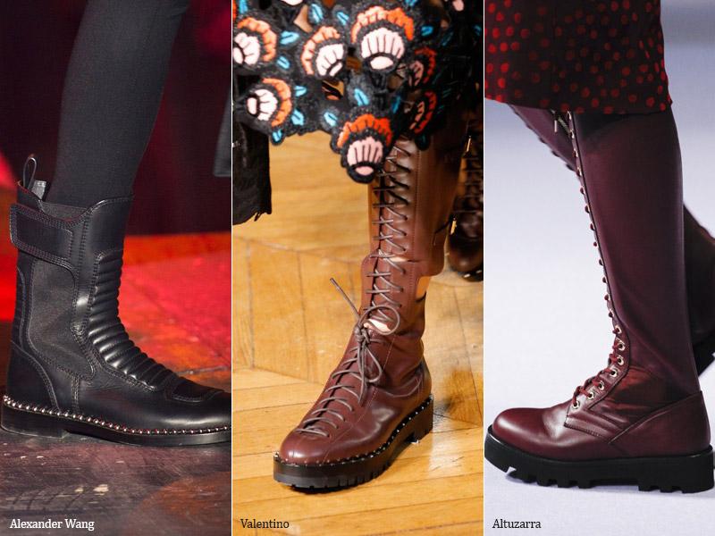Массивные ботинки - модные тенденции обувь осень 2017 / зима 2018