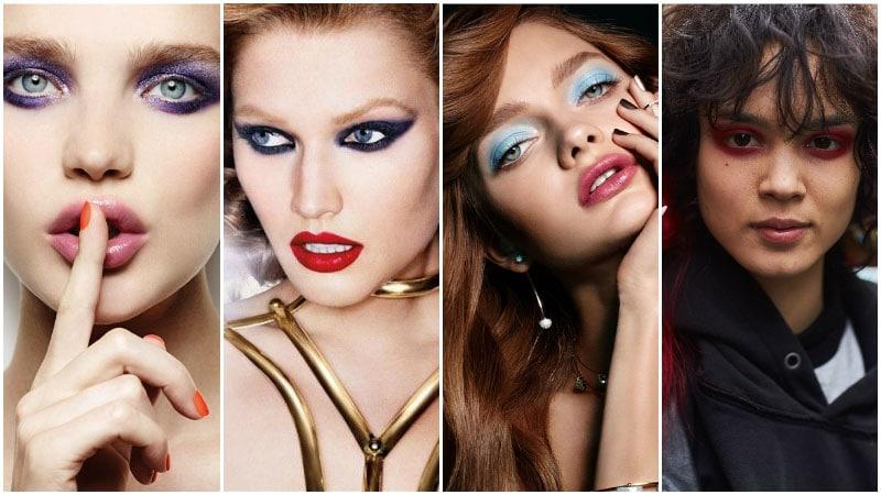 Интенсивный макияж глаж - модный тренд 80-х годов