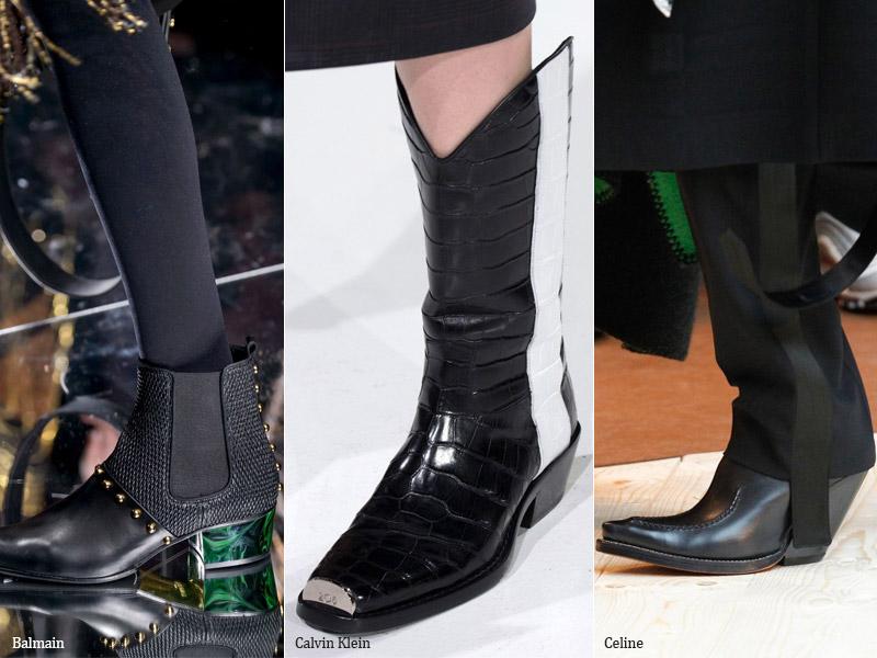 Ковбойские ботинки и сапоги - модные тенденции обувь осень 2017 / зима 2018