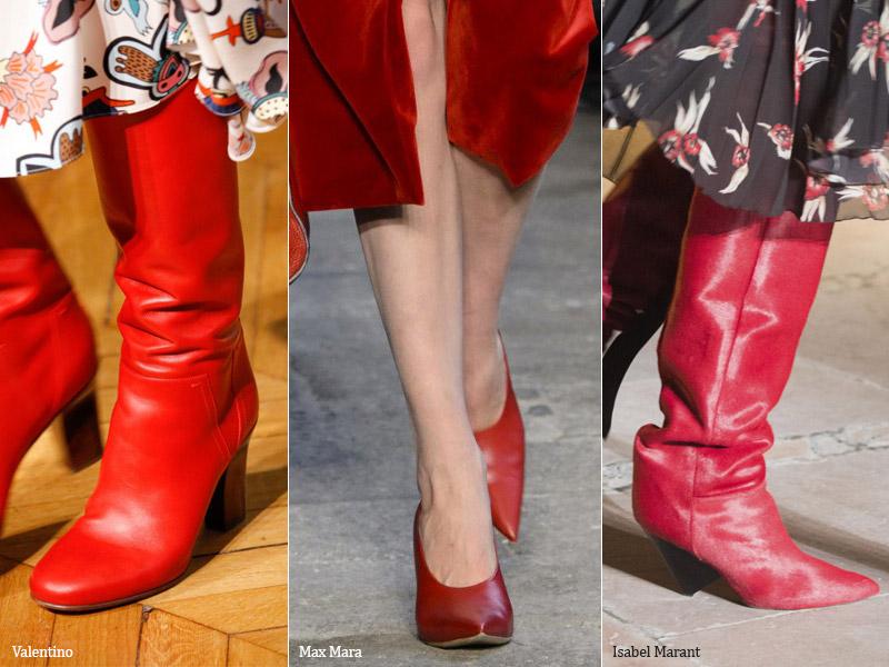 Красная роскошь - модные тенденции обувь осень 2017 / зима 2018