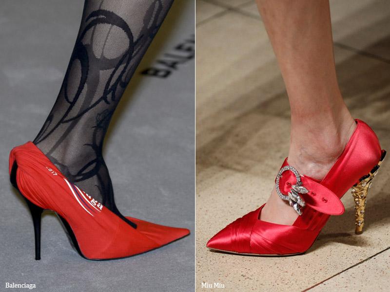Туфли из шелка и сатина - модные тенденции обувь осень 2017 / зима 2018