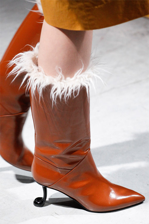 Модные сапожки от Marni из коллекции осень 2017 / зима 2018