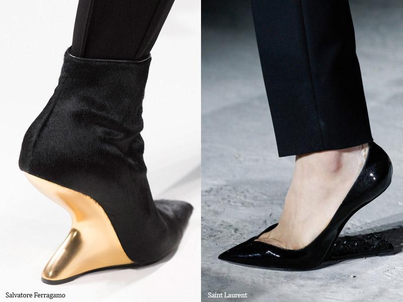 Обувь на оригинальном каблуке - модные тенденции обувь осень 2017 / зима 2018