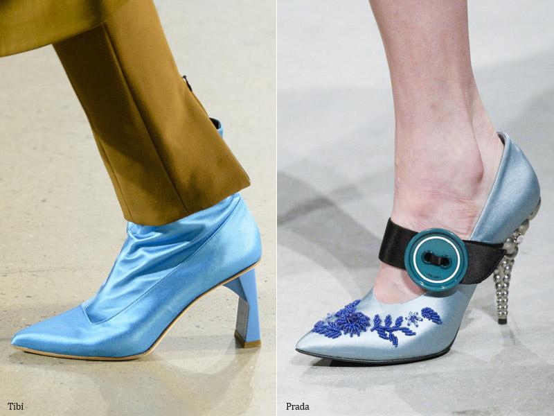 Обувь из шелка и сатина - модные тенденции обувь осень 2017 / зима 2018