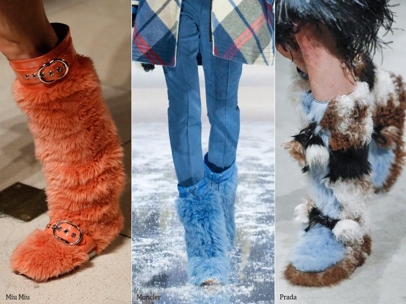 Мехом наружу - модные тенденции обувь осень 2017 / зима 2018