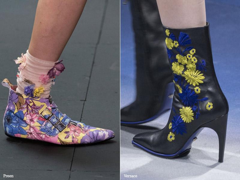 Сказочные цветы - модные тенденции обувь осень 2017 / зима 2018