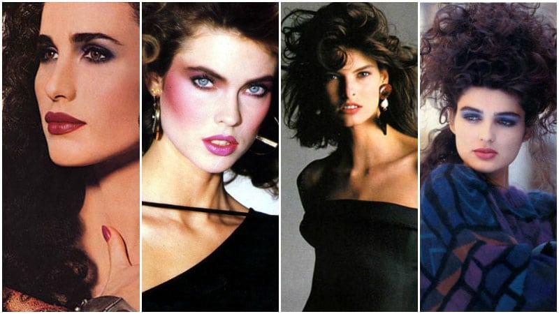 Модные прически и макиях 80-х годов