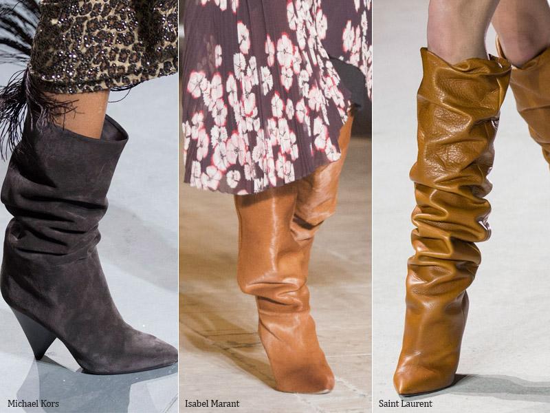 Сапоги гармошкой - модные тенденции обувь осень 2017 / зима 2018