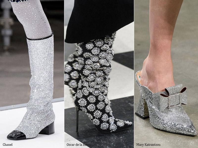 Яркая и блестящая - модные тенденции обувь осень 2017 / зима 2018