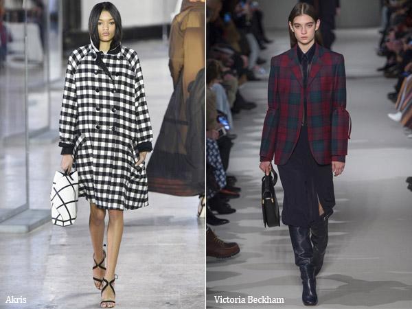 Тренд 17 - принт на одежде клетка - сезон осень-зима 2017