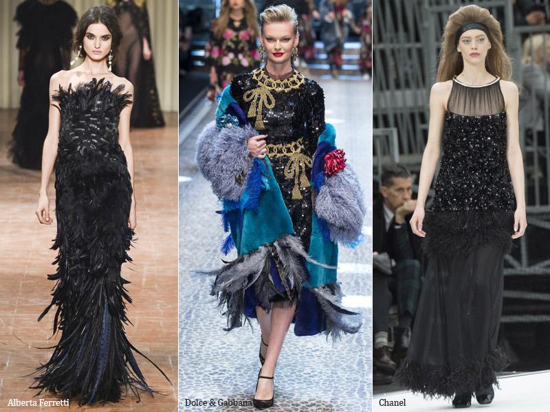 Картинки по запросу мода перья осень зима 2017