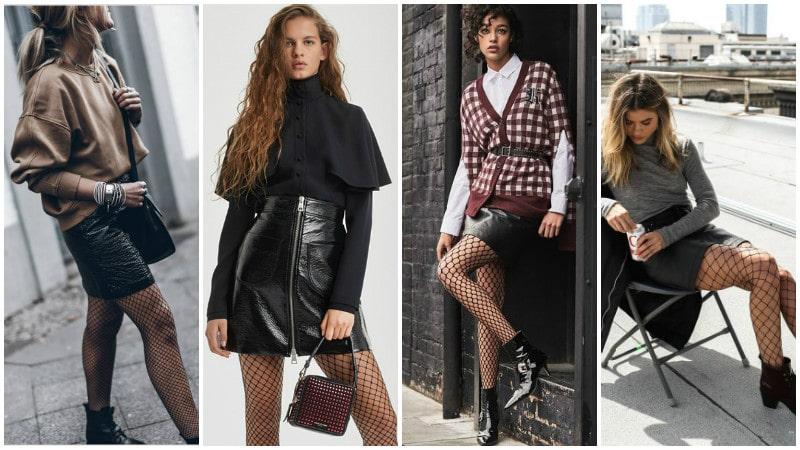 Девчонки в колготках и кожанных мини юбках фото фото 735-633