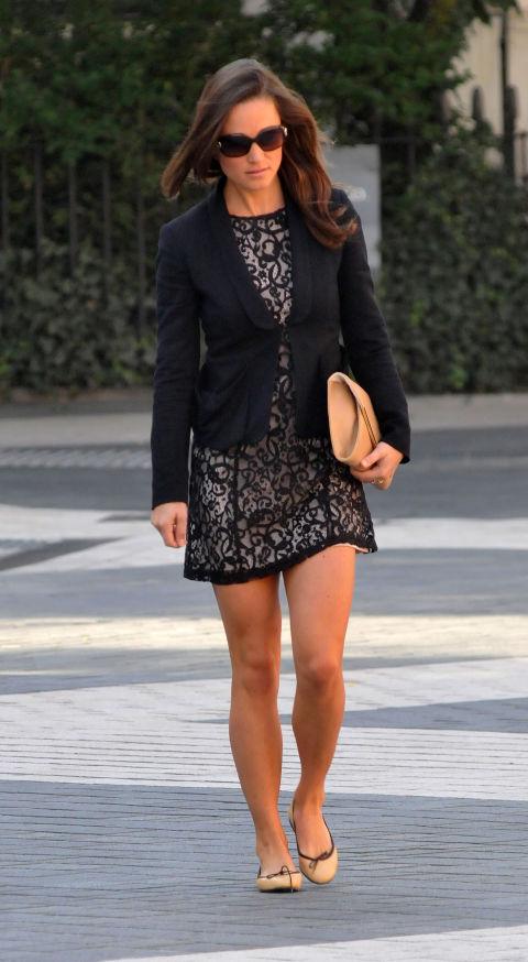 Пиппа Миддлтон в мини платье
