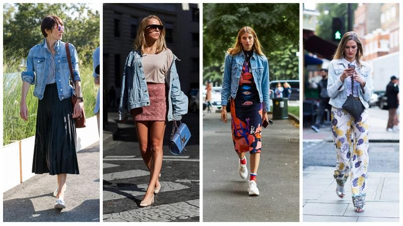 Девушки в голубых джинсовых куртках