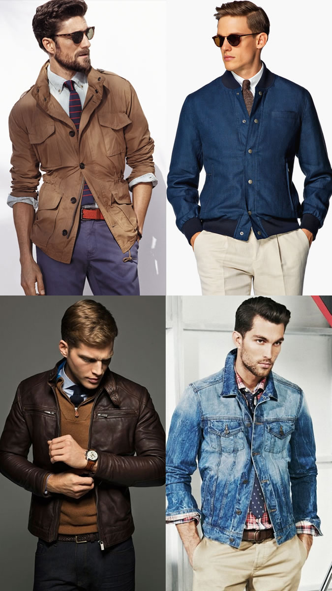 Мужчины в брюках и куртках