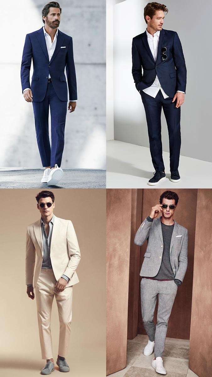 Мужчины в классических деловых костюмах