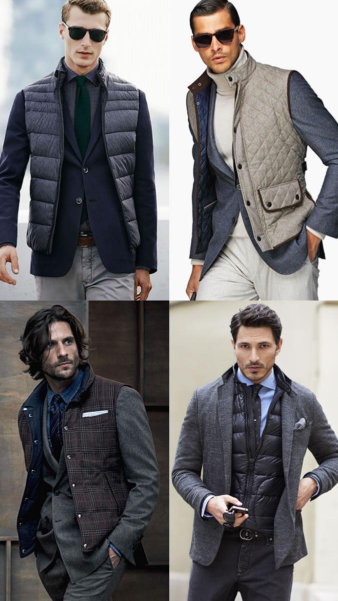 Мужчины в жмлетках, пиджаках и брюках