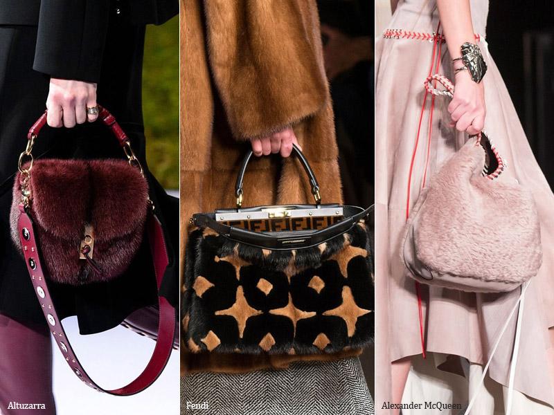 Меховые сумки модные тенденции сезона осень 2017 - зима 2018