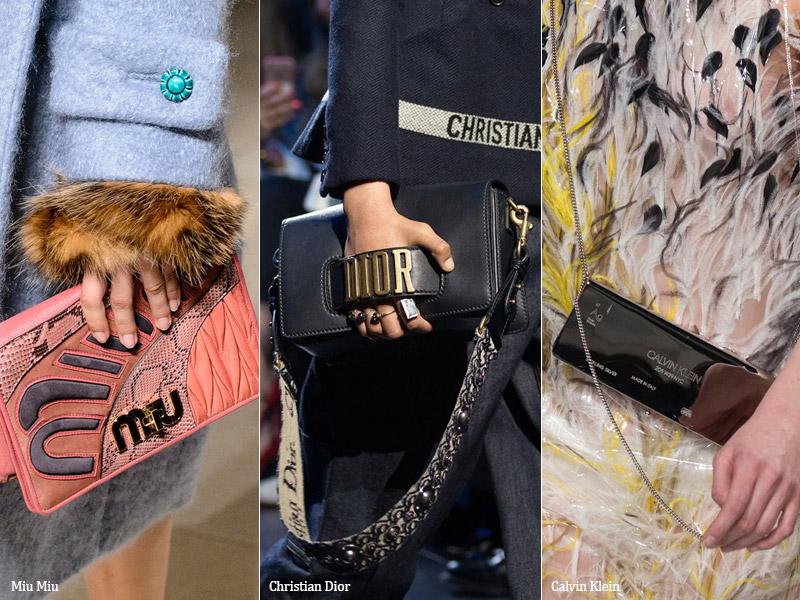 Сумки с логотипами модные тенденции сезона осень 2017 - зима 2018