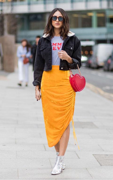 Если у вас плотные бедра и плечи, выбирайте ассиметричные юбки
