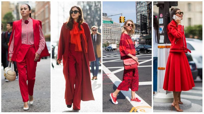Девушки в красной одежде