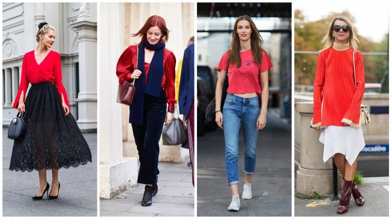 Девушки в красных футболках
