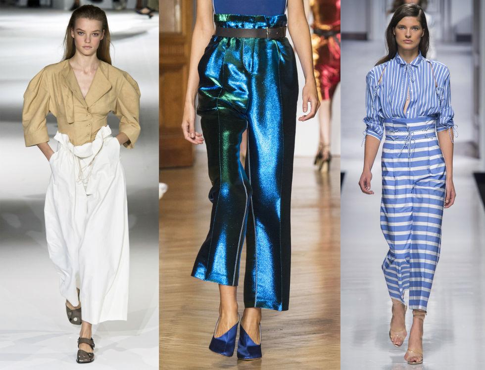 Модели в брюках от Stella McCartney, Aquilano Rimondi и Ermanno Scervino