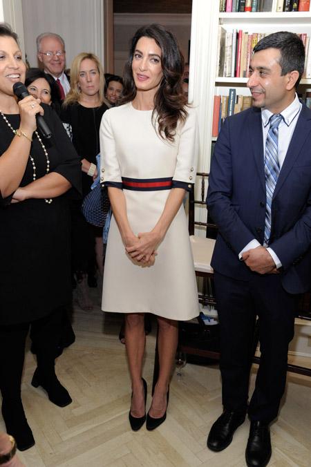 Амаль Клуни на приеме в Нью-Йорке, сентябрь 2016