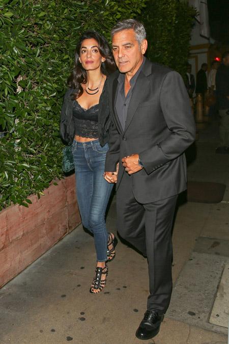 Амаль Клуни на ужине в ресторане Baldi, Лос-Анджелес октябрь 2016