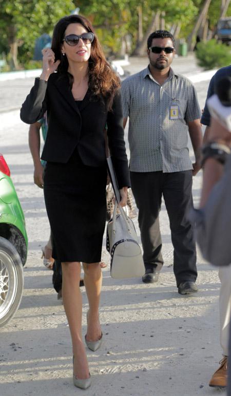 Амаль Клуни по дороге на работу, сентябрь 2015