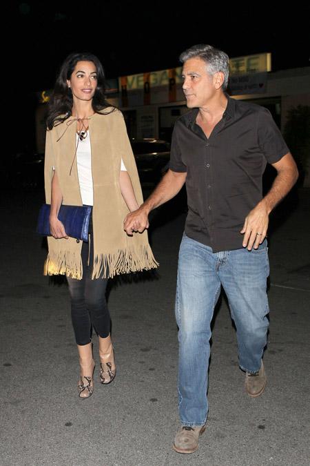 Амаль Клуни покидает ресторан Asanebo на День Св.Валентина, Нью-Йорк февраль 2015