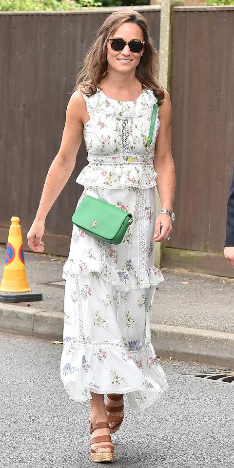 Пиппа Миддлтон в милом цветочном платье с оборками