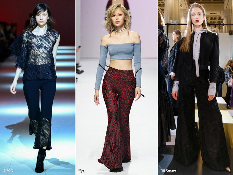 тренд 2. расклешенные брюки - модные брюки сезона осень/зима 2017-2018