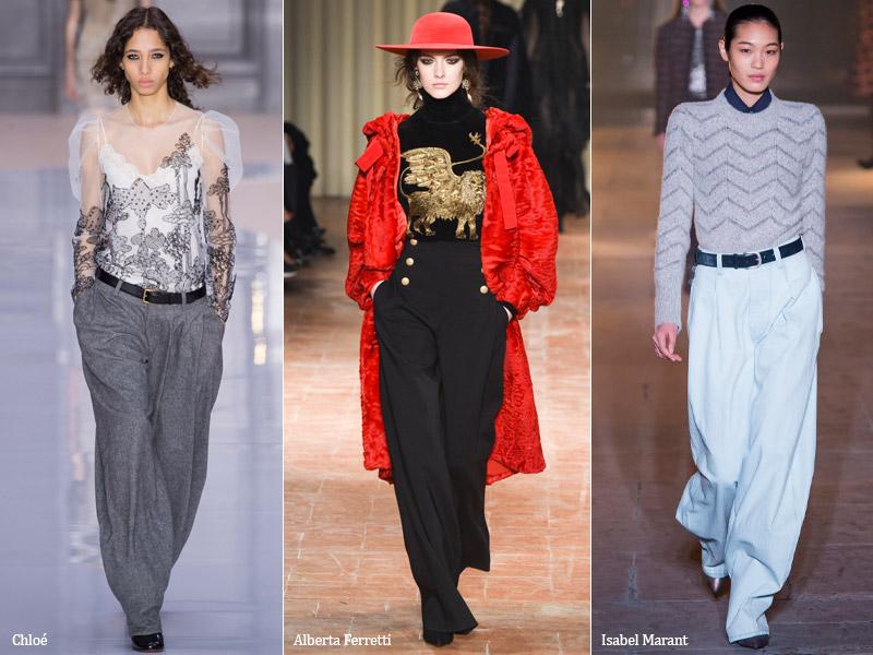 тренд 3. широкие женские брюки - модные брюки сезона осень/зима 2017-2018