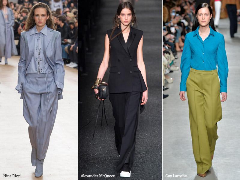 тренд 4. брюки со стрелками - модные брюки сезона осень/зима 2017-2018