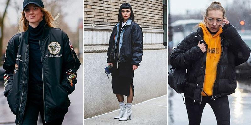 Девушки в черных дутых куртках