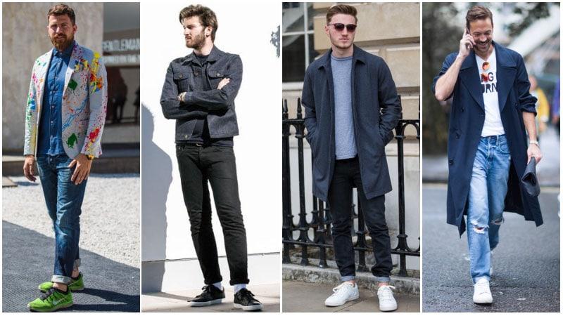 Парни в джинсах и кроссовках