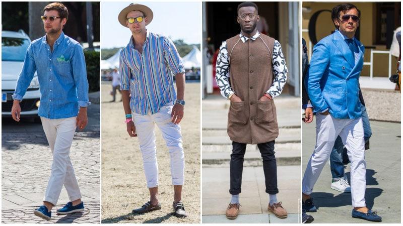 Парни в джинсах и топ-сайдерах