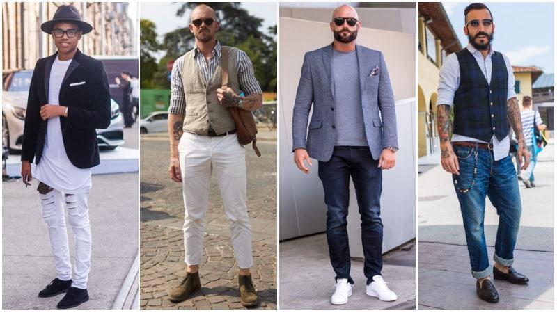 Парни в джинсах, образы в стиле смарт кежуал