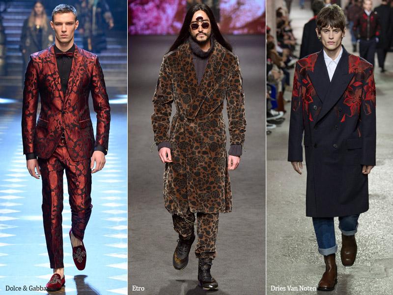 тренд-9 Цветочный принт в мужской одежде - мужская мода осень/зима 2017-2018 г.