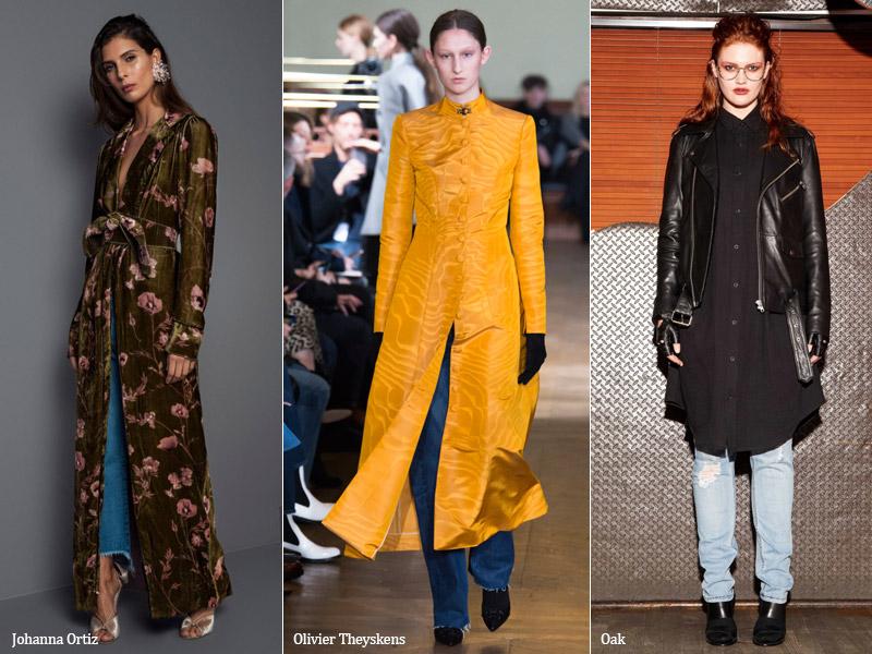 тренд 10. джинсы с платьем - осень/зима 2017-2018