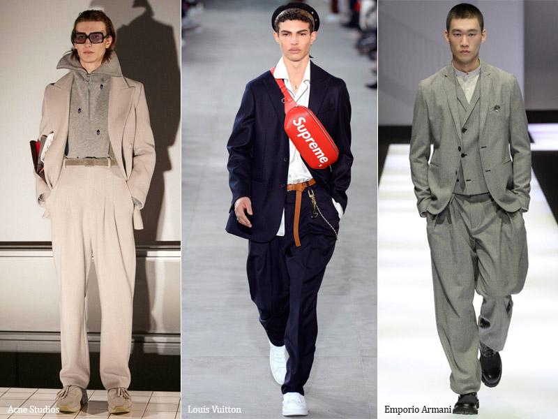 тренд-13 Костюм с широкими свободными брюками - мужская мода осень/зима 2017-2018 г.