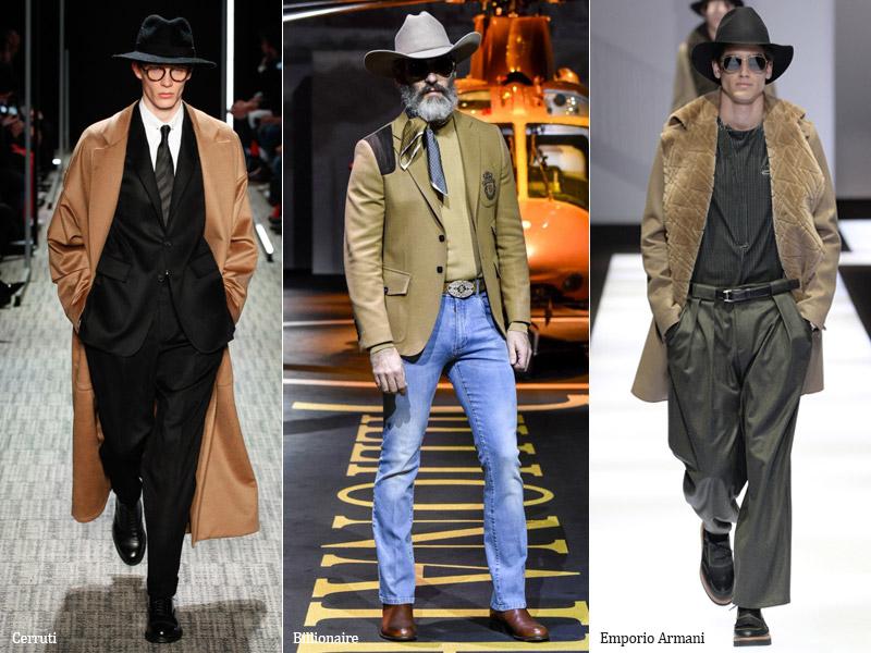 тренд-15 Шляпа Федора - мужская мода осень/зима 2017-2018 г.