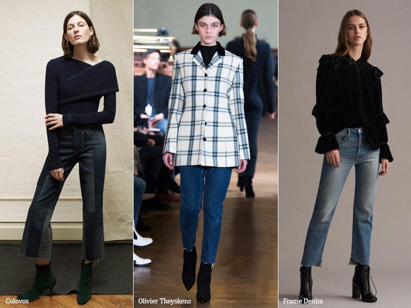 тренд 2. необработанные края - модные джинсы осень/зима 2017-2018