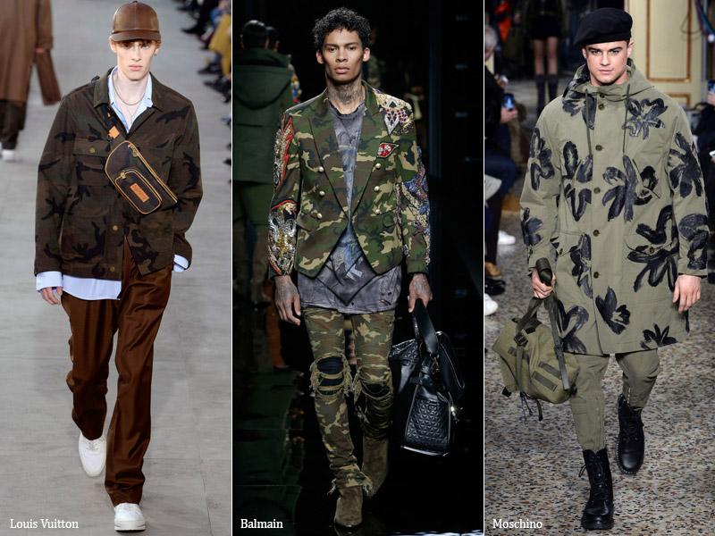 тренд-12 Стиль милитари в мужской одежде - мужская мода осень/зима 2017-2018 г.