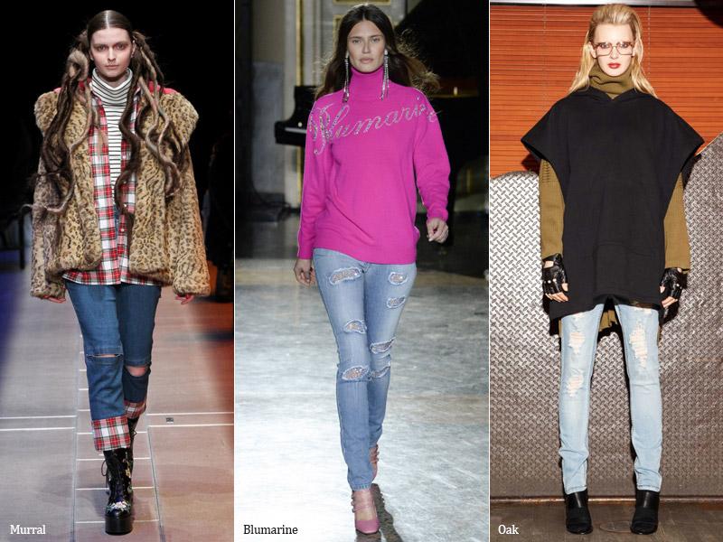 тренд 3. рваные - модные джинсы осень/зима 2017-2018