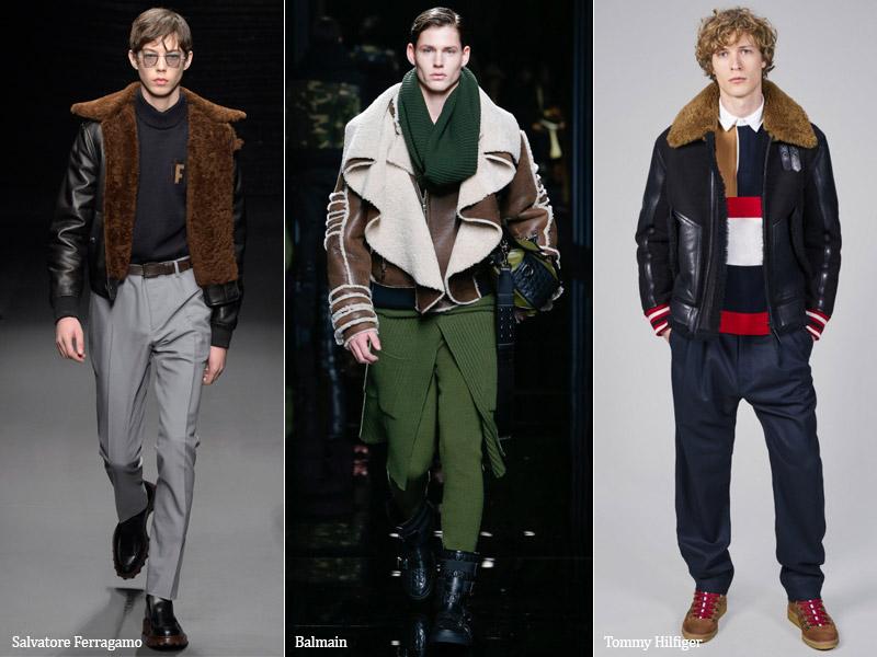тренд-5 Короткая или укороченная дубленка - мужская мода осень/зима 2017-2018 г.