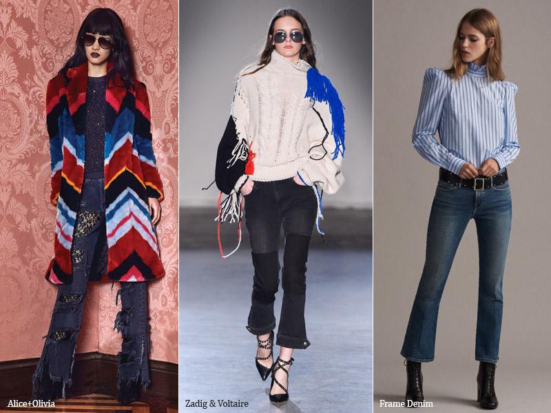 тренд 4. клеш - модные джинсы осень/зима 2017-2018