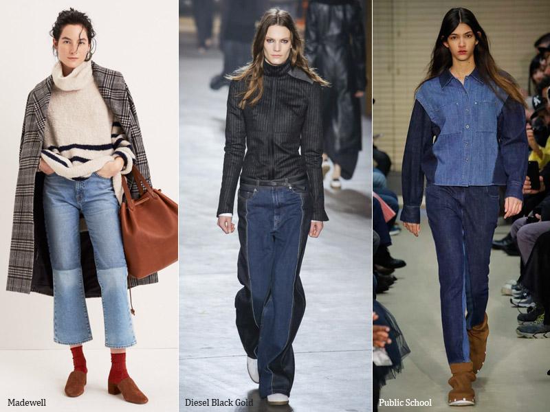 тренд 5. двуцветные - модные джинсы осень/зима 2017-2018