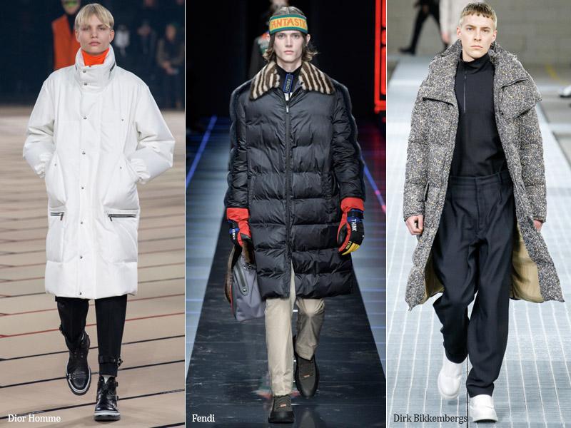 тренд-3 Удлиненный пуховик - мужская мода осень/зима 2017-2018 г.